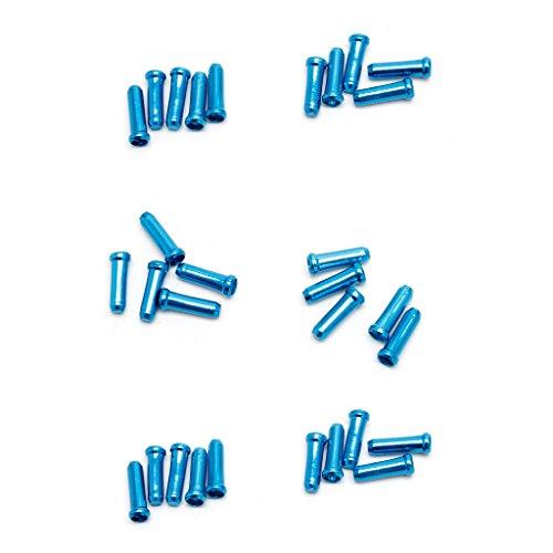 Lergo - 30 piezas de cable de freno para bicicleta MTB, azul