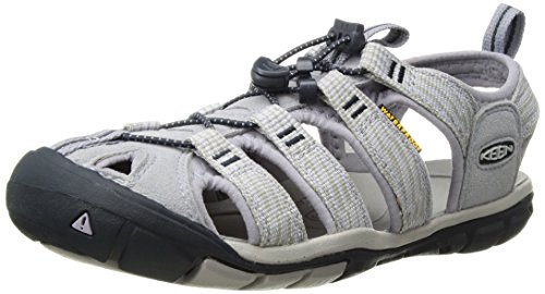 Keen Damen Clearwater CNX Sandalen Trekking- & Wanderschuhe, Dapple Grey/Dress Blue, 40 EU