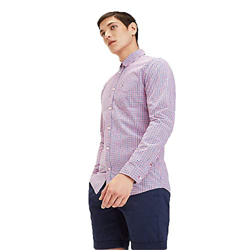 Tommy Jeans Camisa Cuadros Fuxia (L)