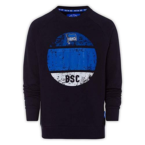 Hertha BSC Berlin Used Print Sweatshirt Pullover (M, schwarz)