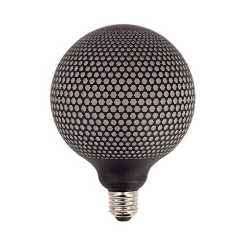 XANLITE – Bombilla LED decorativa de filamento G125 – Casquillo E27, 4 W Cons, 2700 K – Aspecto punto negro – Bombilla estándar decorativa para habitación y habitación de vivir, luz blanca cálida