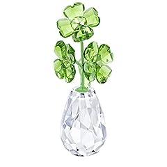 Idea Regalo - Swarovski Flower Dreams-Four Leaf Clovers, Cristallo, Multicolore, 6,7 x 2,5 x 3 cm