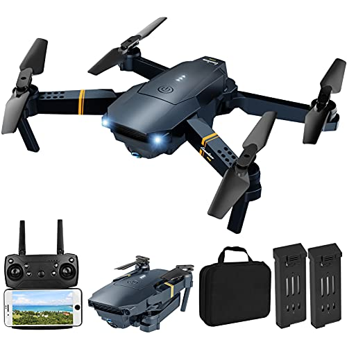 Drone with Camera for Adults, Tomisoy E58 Foldable RC Quadcopter Drone with 1080P HD Camera for Beginners, WiFi FPV Live Video, One Key Take Off/Landing, Altitude Hold, Headless Mode