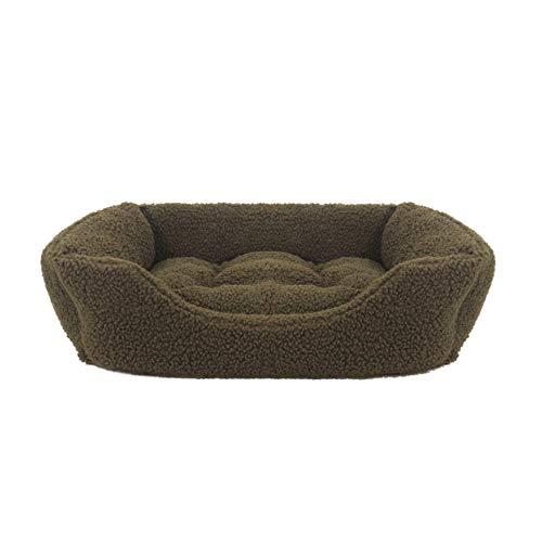 Rosewood Kleines Hundebett für Hunde, Kätzchen und Welpen, maschinenwaschbar, superweiches und kuscheliges Hundebett aus Fleece, 58 x 48 x 12 cm