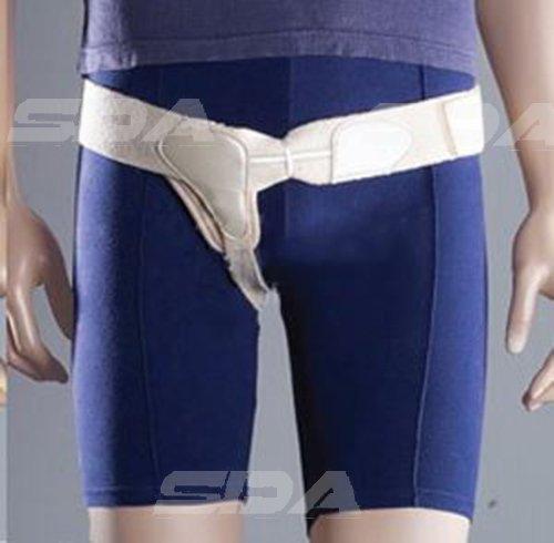 SDA Professioneller medizinischer Stützgürtel für Leistenbrüche, einseitig, Leistengurt von Oppo – vor und nach Leistenbruchoperationen – weich, elastisch, Hakenverschluss Right, Large - 92.1-103.5cm
