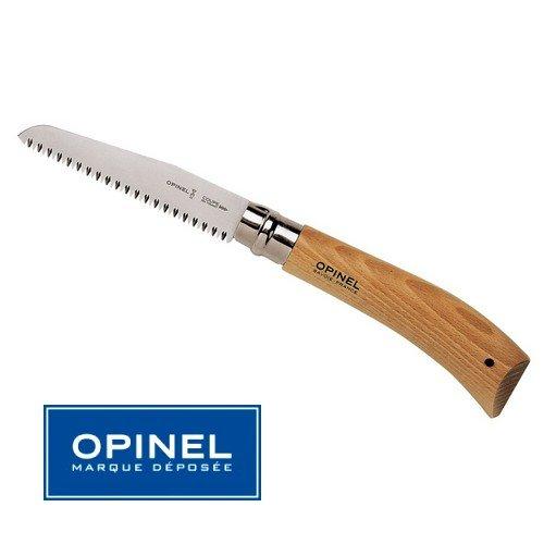 Opinel - Couteau Scie N° 12 Nature - Manche 16.5 cm Bois Hetre - Virole Tournante