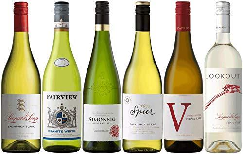 CAPREO Weinpaket Weißwein | Weinpaket mit Weinen aus Südafrika (6 x 0.75l) | Trocken und Lieblich | Weine für jeden Geschmack von CAPREO