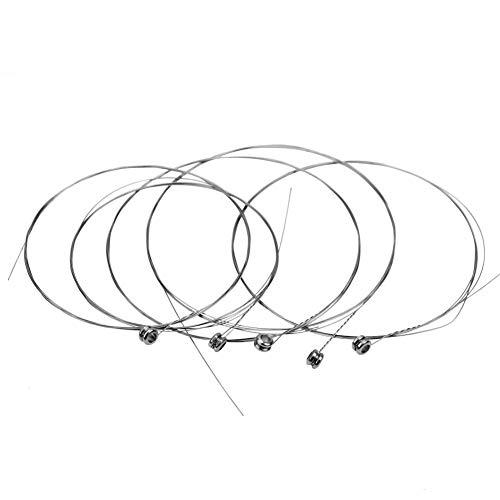 U/K 5 Stücke Metall Silber Ton Musikinstrument Zubehör E-Gitarre 1st String Praktisch und Beliebt