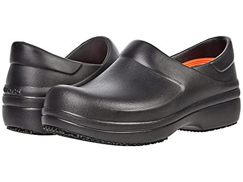 Crocs Women's Neria Pro II LiteRide Clog | Slip Resistant Work Shoes, Black, 10