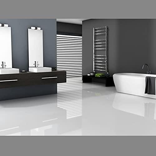 ECD Germany Radiador toallero de baño DHK Towel - 450 x 1200 mm - Cromo - Radiador calentador y secador de toallas - Radiador de pared - Radiador calefactor de baño - Diseño recto - No eléctrico