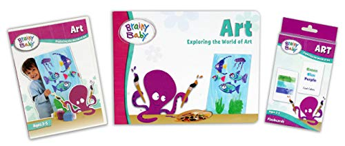 Brainy Baby Teach Your Child Art Learning Library: Exploring The World of Art Board Book, Flashcards & DVD Deluxe Edition