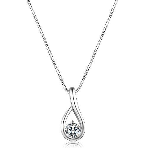 Billie Bijoux 925 Sterling Silver Infinity Bracelet Womens White Gold Plated Diamond Endless Love Symbol Charm Adjustable Bracelet, Gift for Mother' s Day (013)