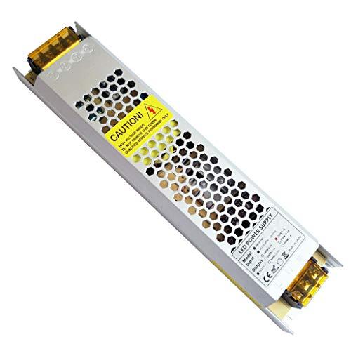 REYLAX® 24V 150W 6.25A Driver LED, Transformador de Conmutación de CA a CC, Fuente de Alimentación de Voltaje Constante, Transformador de Bajo Voltaje para Aplicaciones LED