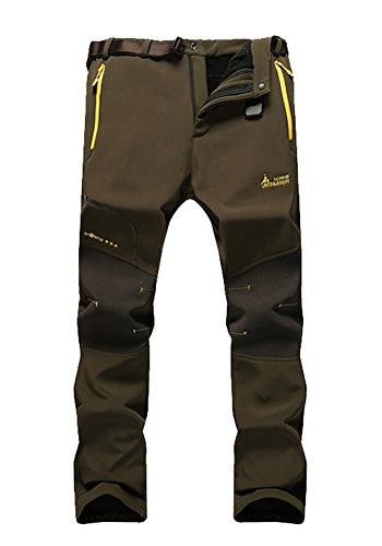 Men's Quick-Dry Waterproof Hiking Pants Snow Ski Windproof Fleece Hiking Pants