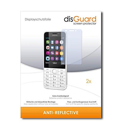 disGuard® Bildschirmschutzfolie [Anti-Reflex] kompatibel mit Nokia 230 Dual SIM [2 Stück] Entspiegelnd, Matt, Antireflektierend, Extrem Kratzfest, Anti-Fingerabdruck - Panzerglas Folie, Schutzfolie