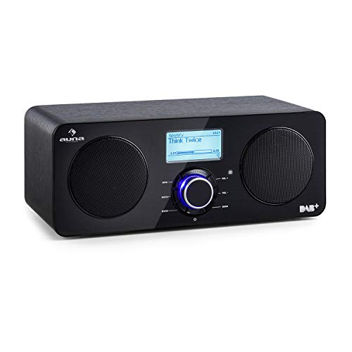 auna Worldwide - Internetradio, Digitalradio, WLAN-Radio, Netzwerkplayer, DAB/DAB+ Tuner, UKW/MW-Empfänger, RDS, MP3-USB-Port, Sleep-Timer, LCD-Display, Fernbedienung, schwarz