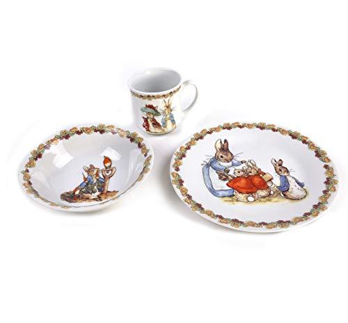 Beatrix Potter Peter Rabbit Peter Rabbit Flower Band Breakfast - Set de 3 pièces