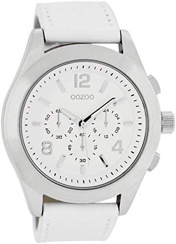 Oozoo Damenuhr mit Lederband 45 MM Weiß/Weiß C6586