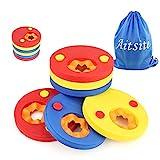 Aitsite discos flotantes, manguitos de natación para niños, hechos de espuma,, 6 piezas