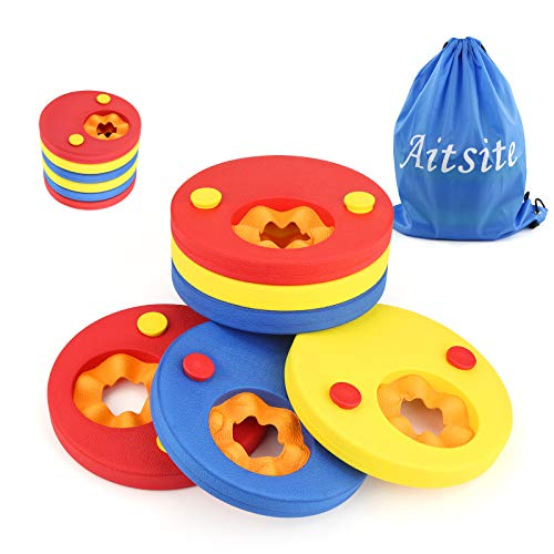 Aitsite Kids Arm Float Discs Swimming Arm Band Pool Set for Kids ( 6 pcs/Set)