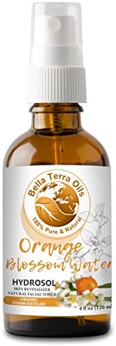 NEW Orange Blossom Water 4oz Neroli Hydrosol Facial Toner Revitalizer Organic 100 Pure Alcohol product image