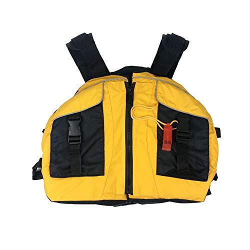 Jaqueta unissex Alician, adultos, em formato de carneiro, colete vitalício, canoa, oceano, barcos, colete salva-vidas, amarelo, tamanho único, ajustável