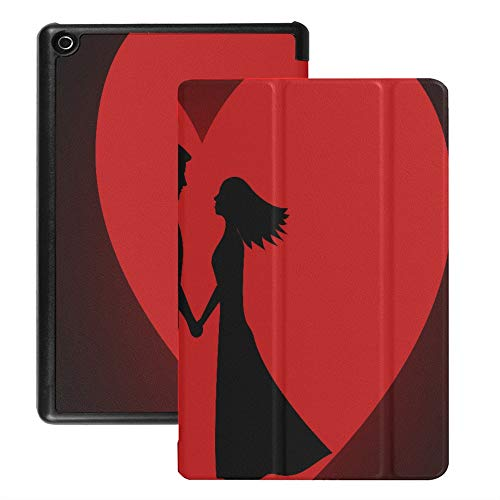 Fire Hd 8 Protective Case Red Love Best Happiness Kindle Fire 8 Hd Case (2018 2017 2016 Release,8th/7th/6th Generation) with Auto Wake/Sleep