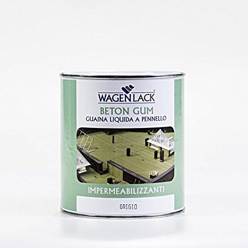 Wagen Lack - Guaina Liquida Impermeabilizzante Beton Gum, 0.75 Lt, Colore: Verde Ossido