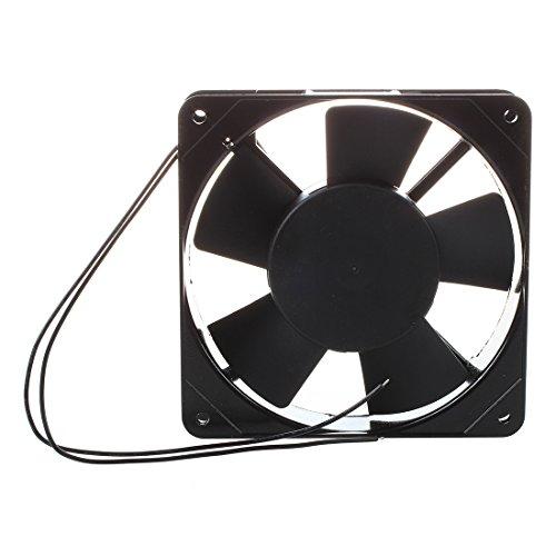 Cikuso AC 220V-240V 120x120x25mm Ventilador de enfriamiento para PC Caja Refrigerador Negro
