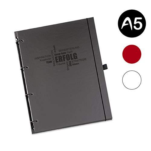 flexiNotes ORGANIZER A5 2020, Typ: Business, Schwarz, Wochenkalender Basic - Ring L
