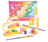 Make it Up Colección Unicornio - Lavable - No tóxico - Juego de maquillaje seguro para niños