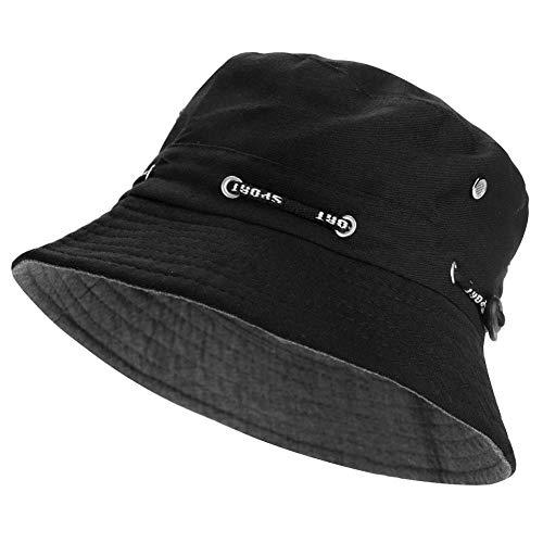 ZARRS Sombrero de Pescador,Sombrero de Cubo Algodón Transpirable Sombrero de Sol para Hombres Mujeres Adolescentes Acampar al Aire Libre Senderismo Pesca Caza Golf 56-58cm Verde