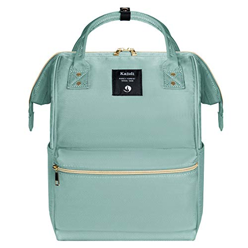 KALIDI Casual Daypack Lightweight School Bag Unisex Laptop Backpack Rucksack fits 15 inch MacBook Laptop for Boys Girls Men and Women, Mint Green