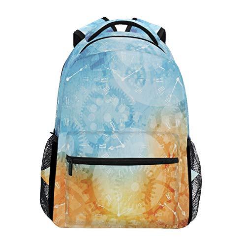 Zeitschaltuhr Studentenrucksack Kinderrucksack Büchertasche Schülerrucksack mit Laptop Rucksäcke für die Reise Teen Mädchen Jungs