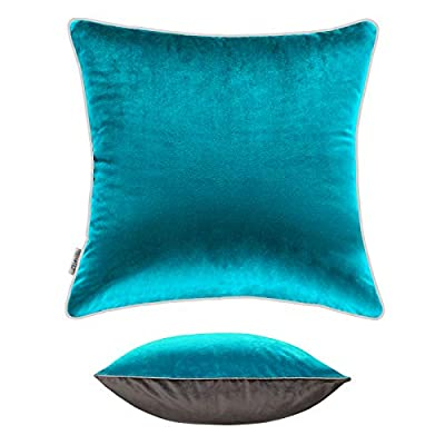 CLEAN ELF Premium Velvet Throw Pillow Cover, 18...