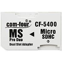 com-four®AdaptadorDualmicroSD-AdaptadorMicroSDHCaMSProDuo,TarjetadeMemoriamicroSDaMemoryStickparaPSP,Cámara&Celular,máx.32GB (1 Pieza)