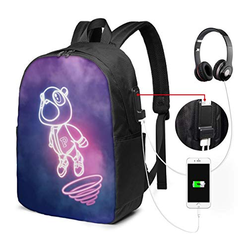 Kanye West Graduation Laptop Backpack,Extra Large Backpacks With USB Charging Port,Travel Computer Backpack For Mens And Women,Water Resistant College School Bookbag Fits 17 Inch Laptops And Notebooks