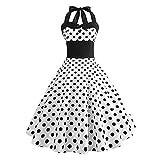 AMhomely Vestido de verano para mujer, elegante, vintage, sin mangas, estilo vintage, para fiesta, graduación, vestido holgado, talla Reino Unido