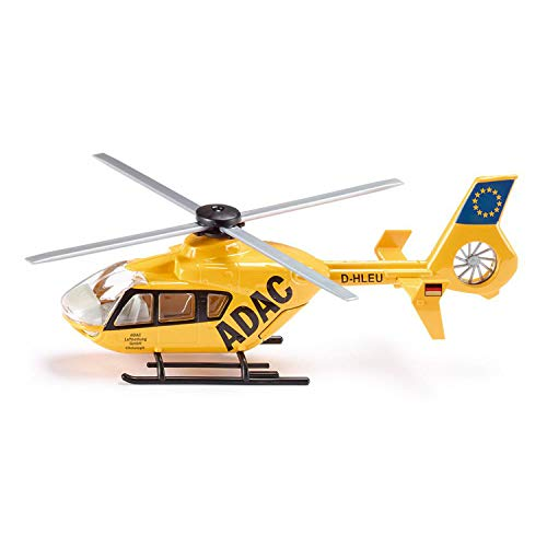 SIKU 2539, Rettungshubschrauber, 1:55, Metall/Kunststoff, Gelb, Bewegliche Rotoren