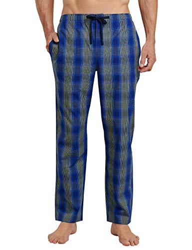 Schiesser Herren Mix and Relax Hose Lang Schlafanzughose, Blau (Royal 819), Large (Herstellergröße: 052)
