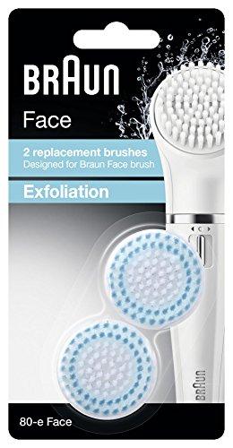 Braun Face Peeling SE80-E Reserveborstel, voor bruin, gezichtsreiniger, 2 stuks