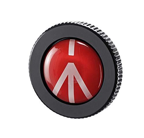 Manfrotto Placa compacta de alumínio sólido de liberação rápida para tripé de ação compacta, preta (ROUND-PL)