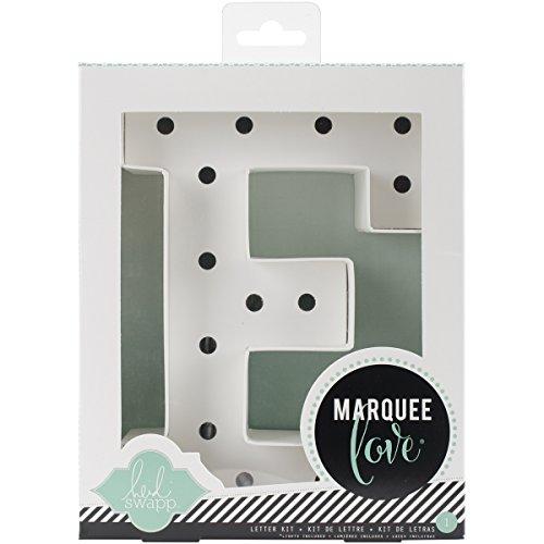 Heidi Swapp Marquee Love Buchstaben E, Papier, weiß, 8.5 x 8.5 x 2.2 cm