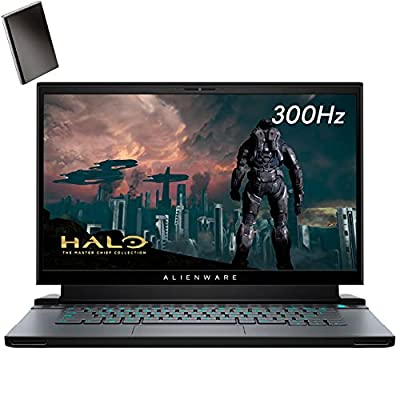 "Alienware M15 R4 RTX 3070 8GB GDDR6 15.6"" FHD 300Hz Gaming Laptop Computer, Intel 8-Core i7-10870H up to 5.0GHz, 16GB DDR4, 2TB PCIe SSD, WiFi 6, RGB Keyboard, Windows 10, BROAGE 320GB External HD"