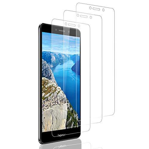 SNUNGPHIR Panzerglas Schutzfolie für Huawei Honor 6X [3 Stück] Displayschutzfolie [9H Härte] [Hohe Empfindlichkeit] Panzerglasfolie [Blasenfrei] [Anti Fingerabdruck] [HD-transparent]