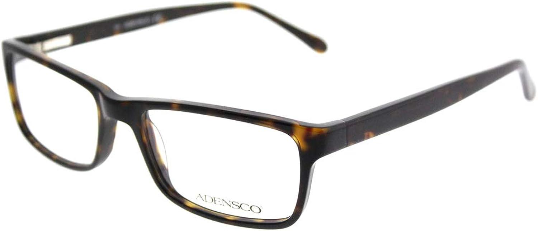 Adensco Plastic Rectangular Eyeglasses 54 0086 Dark Havana