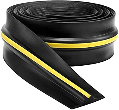 20Ft Universal Garage Door Threshold Weather Seal Kit - Bottom Seal Rubber - Garage Shield - Heavy Duty Replacement Bottom Weatherseal - 9/16 Inch Thick (Not Include Adhesive/Sealant)