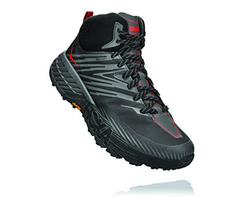 Hoka One One Speedgoat Mid 2 GTX - Zapatillas de trail running para hombre, Antracita Dark Gaviota Gris, 9.5 US