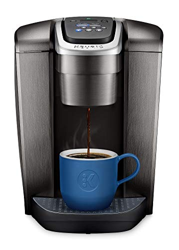 Keurig K-Elite Single Serve K-Cup Pod Coffee Maker, with Strong Temperature Control, Iced Coffee Capability, 12oz Brew Size, Programmable, Brushed Slate (Renewed)