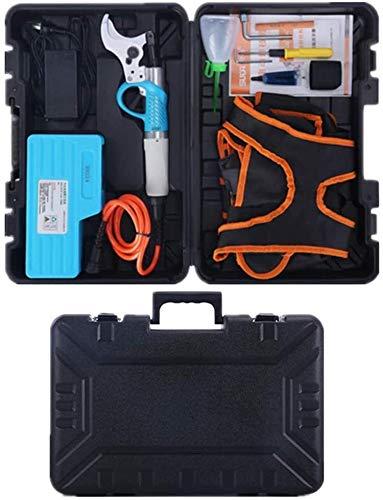 Sécateur électrique, de haute qualité 36V 4.8Ah batteries rechargeables au lithium 8-10 heures de travail rechargeables Branches Scissor Jardin Intensification Sécateur outil de coupe 6.21